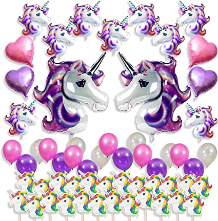 Amazon.com: Unicornio suministros de fiesta decoraciones ...