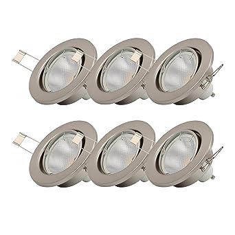 Spots OrientablesAmpoules Encastrables Lot Led De 6 5w Incluses230vGu10Ip23Éclairage Plafond EncastrableBlanc Chaud6x5w Bk Licht nON8PkXZ0w