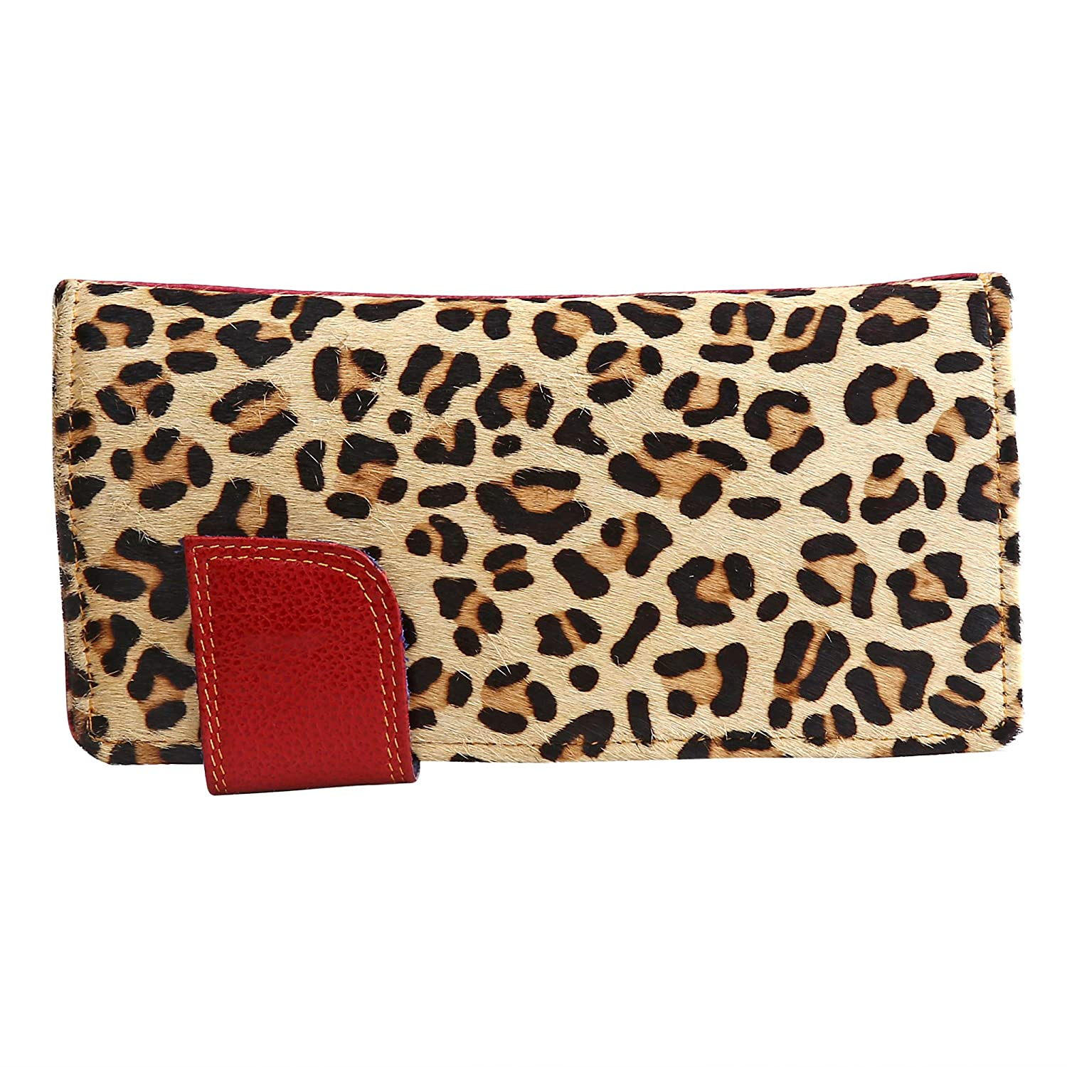 Leather Purses Clutch Phone Wallets Card Slots Animal Print Women