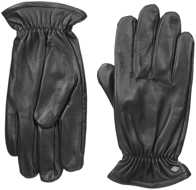 GII Mens Fine Leather Gloves with Melange Fleece Lining