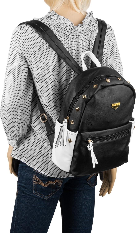 VanGoddy 2016 Mini Rivets Series Premium PU Leather Casual Travel School College Backpack for Women