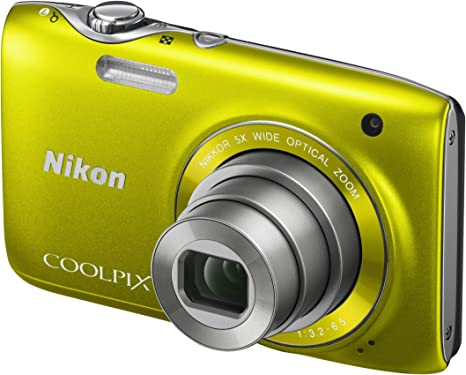 Nikon Coolpix S3100 Digitalkamera 2 7 Zoll Zitrusgelb Kamera