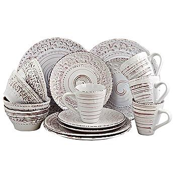 Elama 16-Piece Dinnerware Dish Set