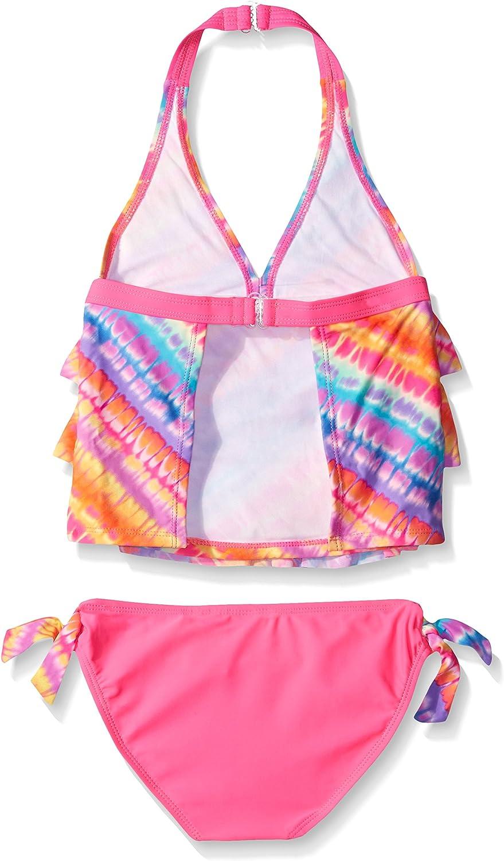 Angel Beach Girls Sun Kiss Tie Dye Triple Tiered Tankini Set