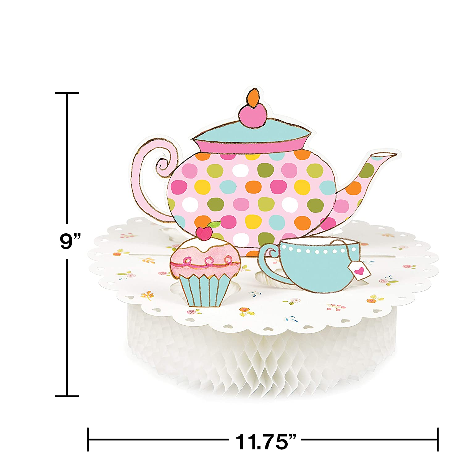 TeaTime 2 Pack Plus Party Planning Checklist by Mikes Super Store Tea Party Alice in Wonderland Birthday Supplies Pop up Centerpiece