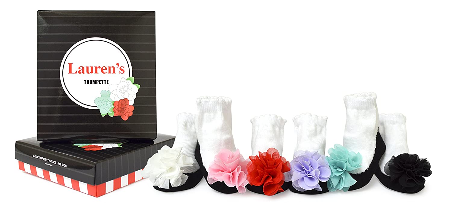 Cheap Price New In Box Trumpette Baby Girl Flower Power 6 Pair Socks 0-12 Months Cute! Baby & Toddler Clothing