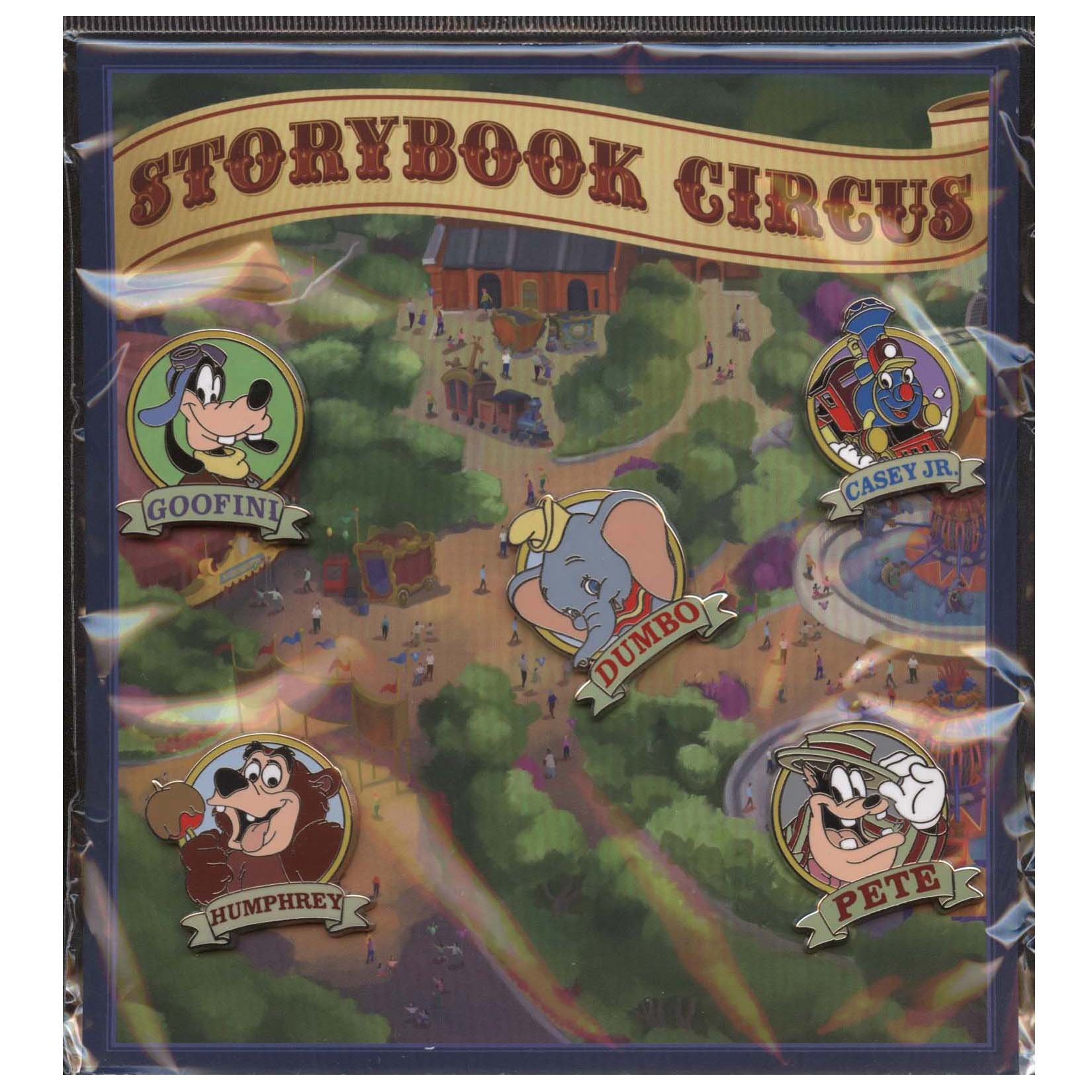 Disney Storybook Circus 5 Piece Pin Set