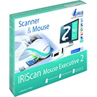 IRIScan Mouse 2 Executive USB Cablé alimenté, Scan vers JPG/PDF/WORD/EXCEL, Scan cartes de visites vers Outlook OCR 130 Langues, Windows & Mac