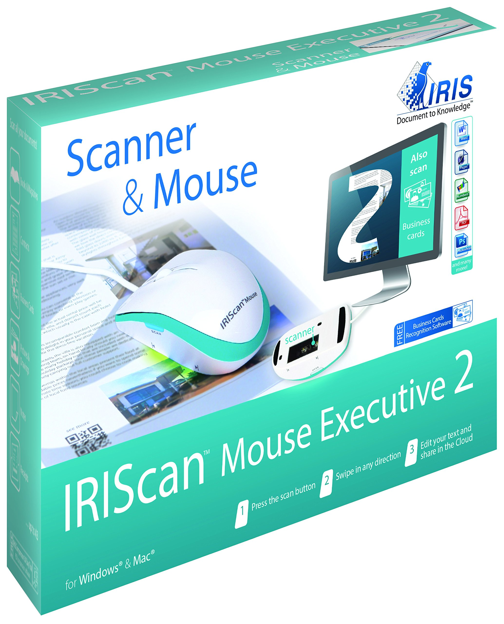IRIScan Executive 2 Portable Scanning Mouse by IRIS USA, Inc.