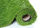 Sumc Artificial Grass Outdoor Green High Density Fake Lawn Turf of Dogs Pets Natural&Realistic Looking Garden Tidy Lush 30mm pile height 1m*2m Sold by SUMC