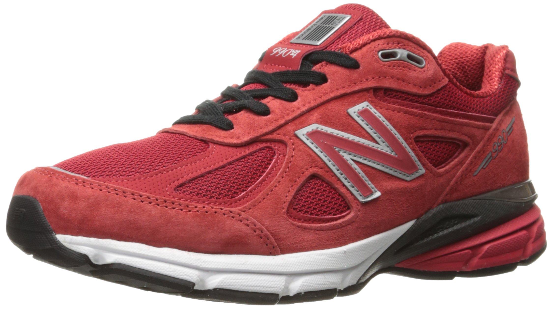 New Balance Men's M990V4 Running Shoe, Alpha Red/Black, 9.5 D US
