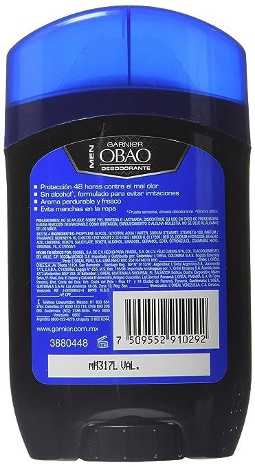 Amazon.com : Obao Mens Oceanic Stick Deodorant 50g - Barra Oceanico Desodorante para Hombre (Pack of 6) : Beauty