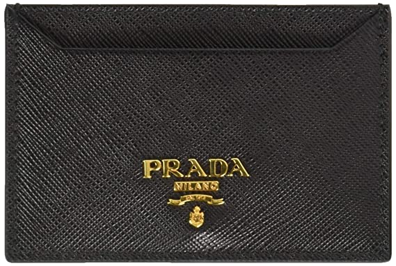 afa9dcc0510d Prada Women's Saffiano Card Holder 1mc208qwaf0002, Black One Size at ...