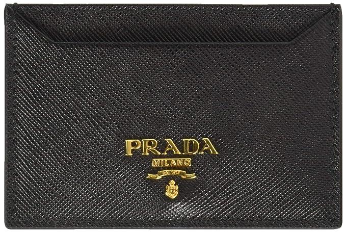 89340de43335 Prada Women's Saffiano Card Holder 1mc208qwaf0002, Black One Size ...