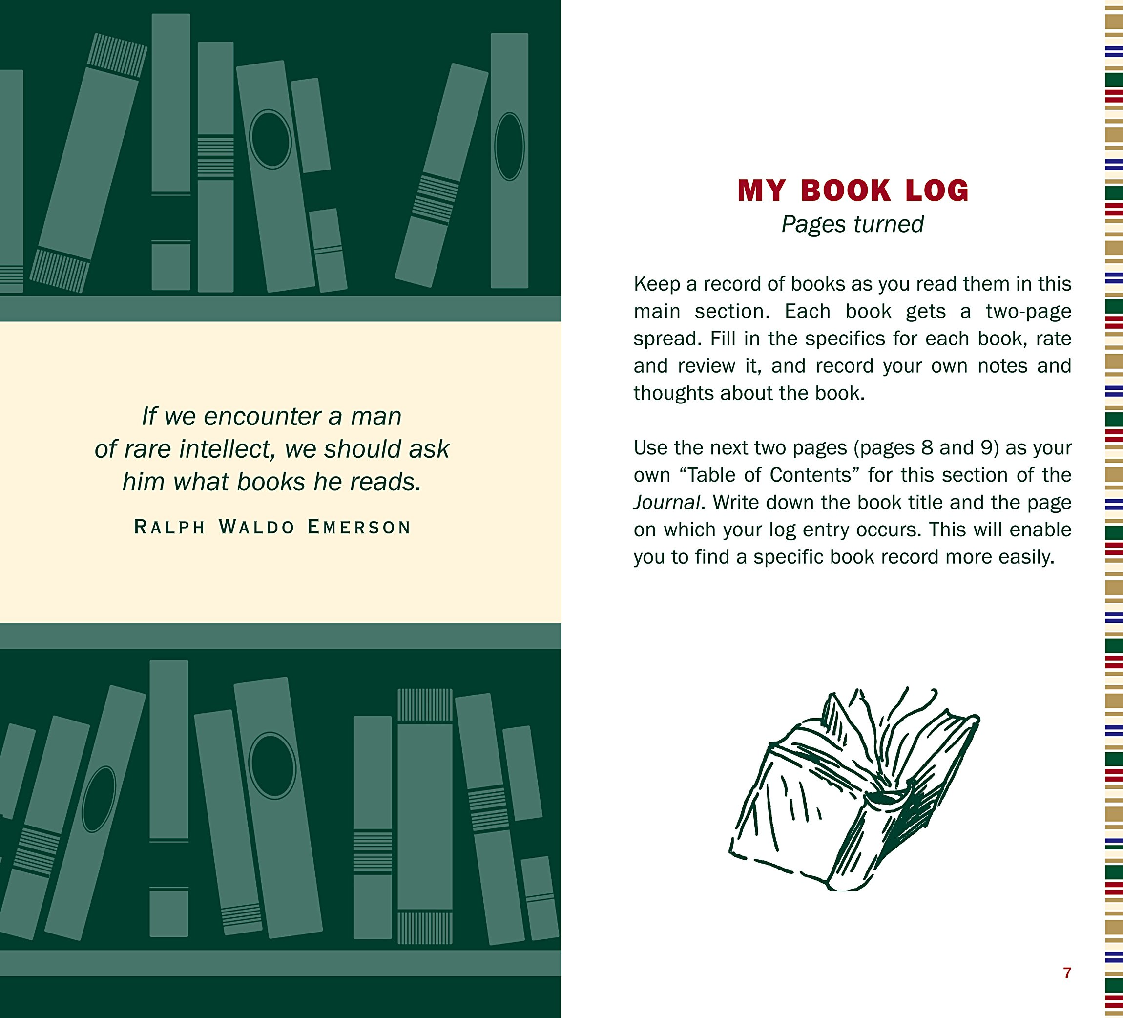 The Book Lover\'s Journal: My Personal Reading Record: Amazon.de ...