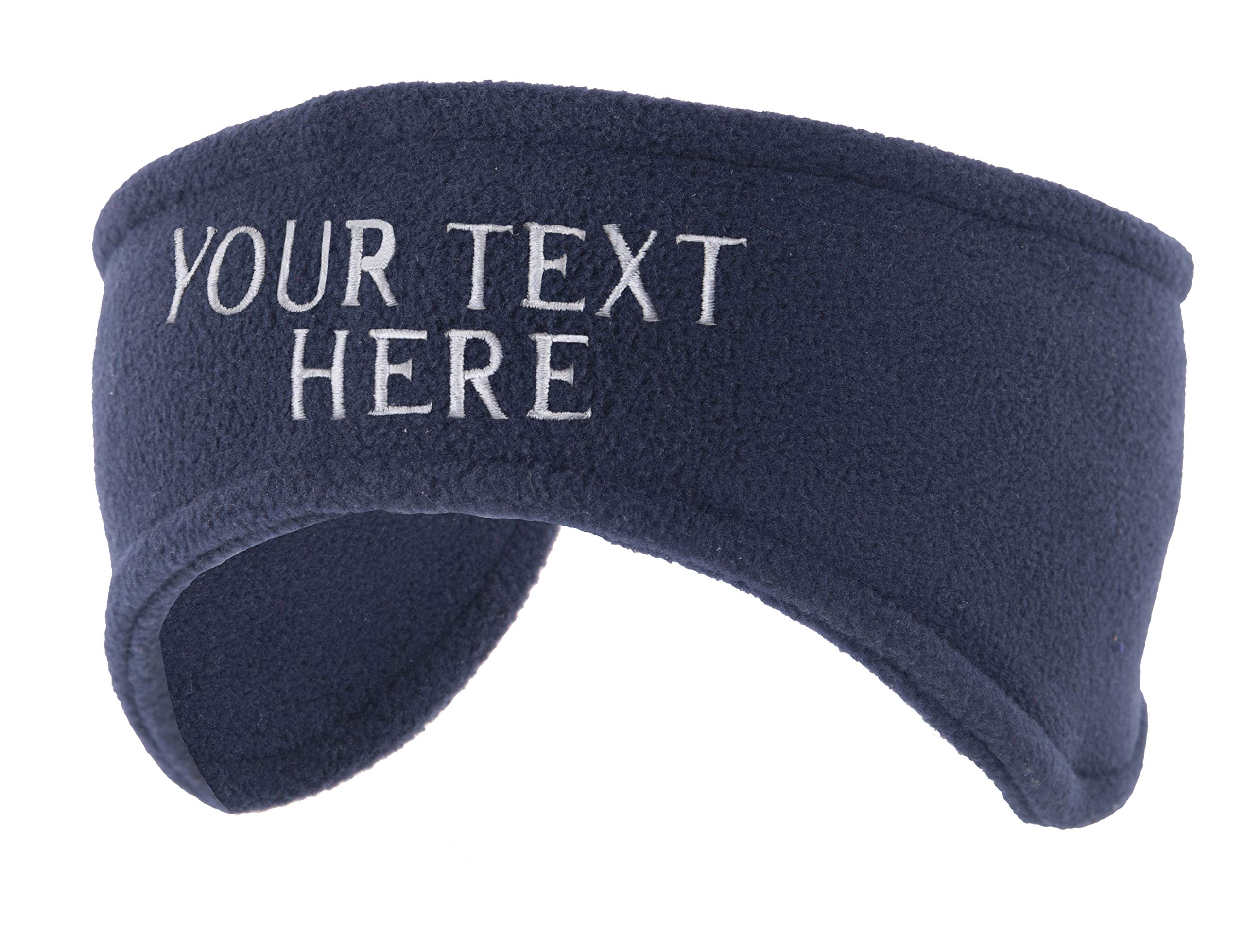 Custom Headbands for Sport Teams, and Cheerleaders, Winter Fleece Ear warmers - 3PK Navy CA4100Cheer