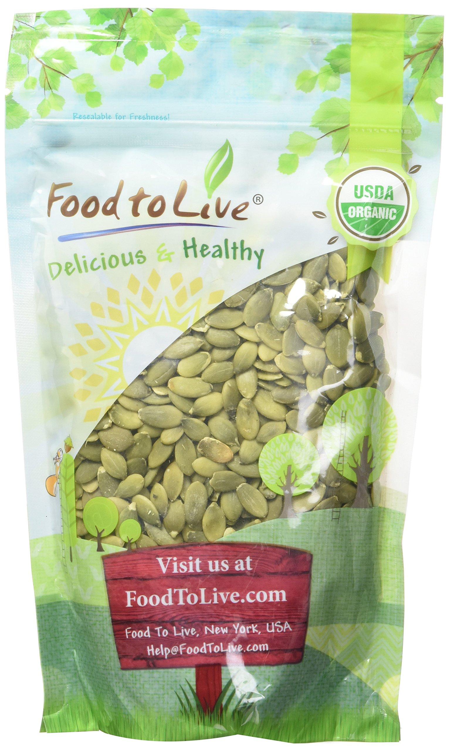 Food to Live Organic Pepitas / Pumpkin Seeds (Raw, No Shell, Kosher) (8 Ounces)