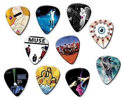 Muse (A4 Edition) Juego de 10 púas de guitarra acústica eléctrica