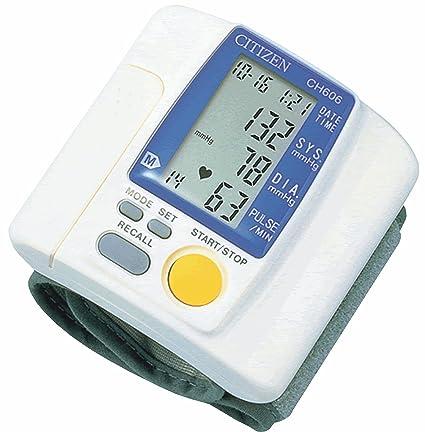 Citizen CH-606 - Tensiómetro de muñeca (con monitor, portátil, 48 niveles