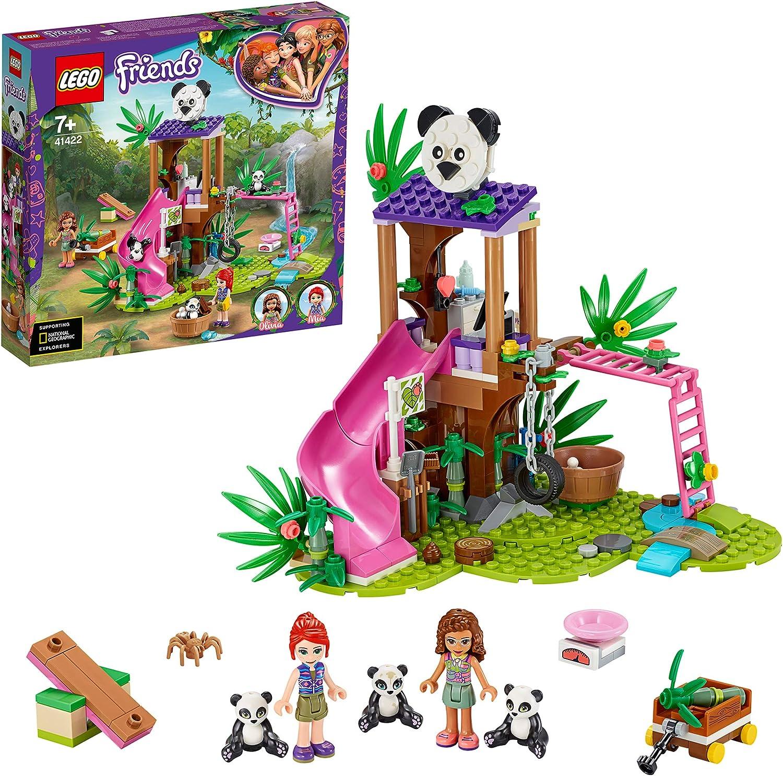 LEGO Pulse Theme Friends Casa del Árbol Panda Set de JuegoconOliviay Figuras de Animales,Serie Rescate en La Jungla, Multicolor (41422)