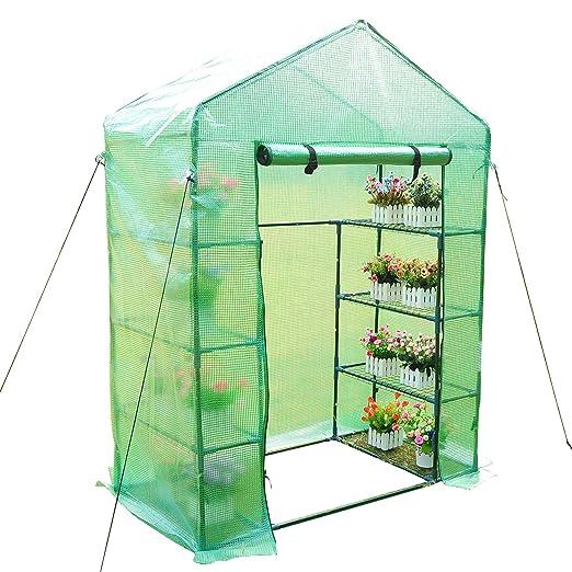 24 opinioni per Outsunny- Serra da giardino per piante con scaffali, (143x73x195cm) con tetto