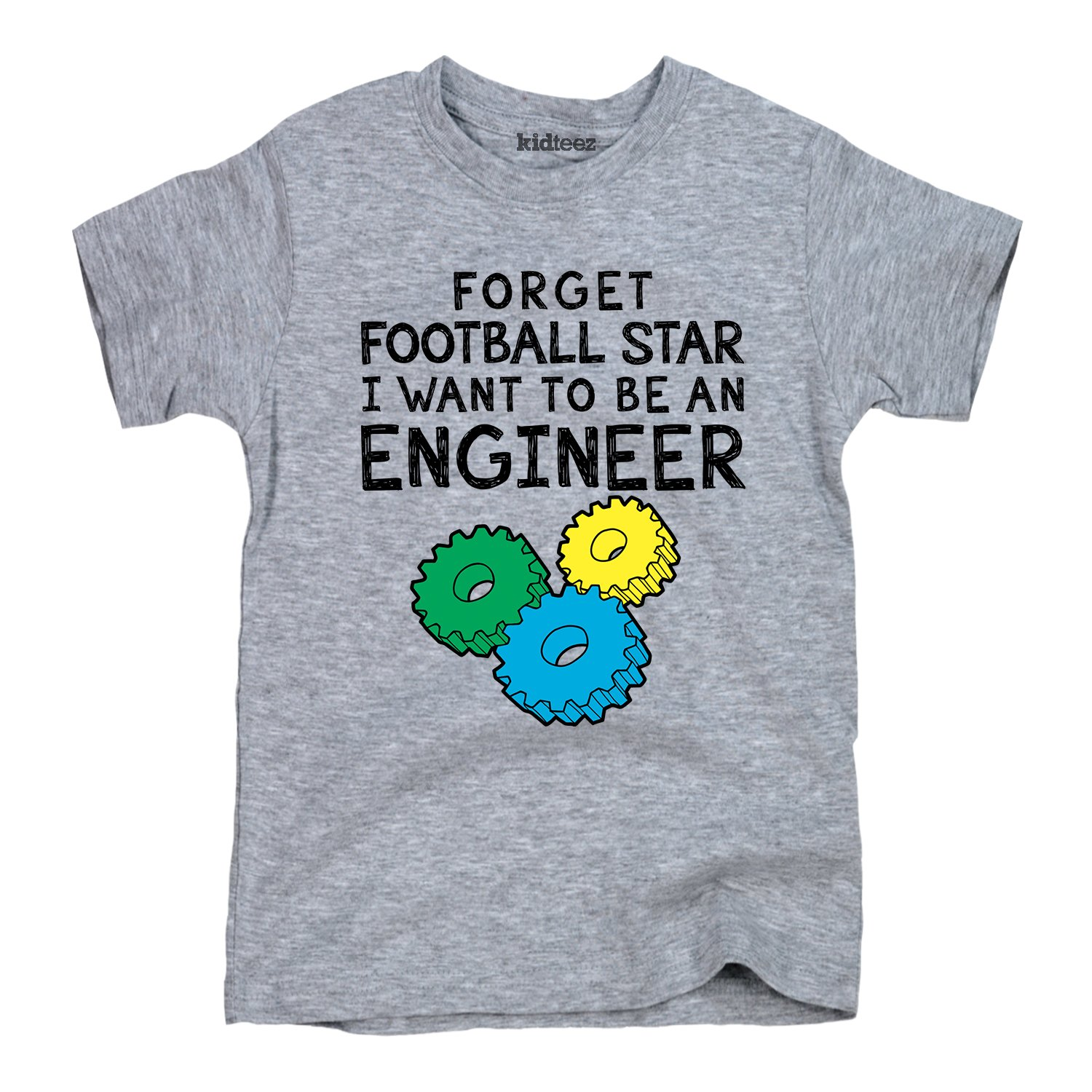 Instant Message Forget Football Star Toddler Short Sleeve Tee Engineer