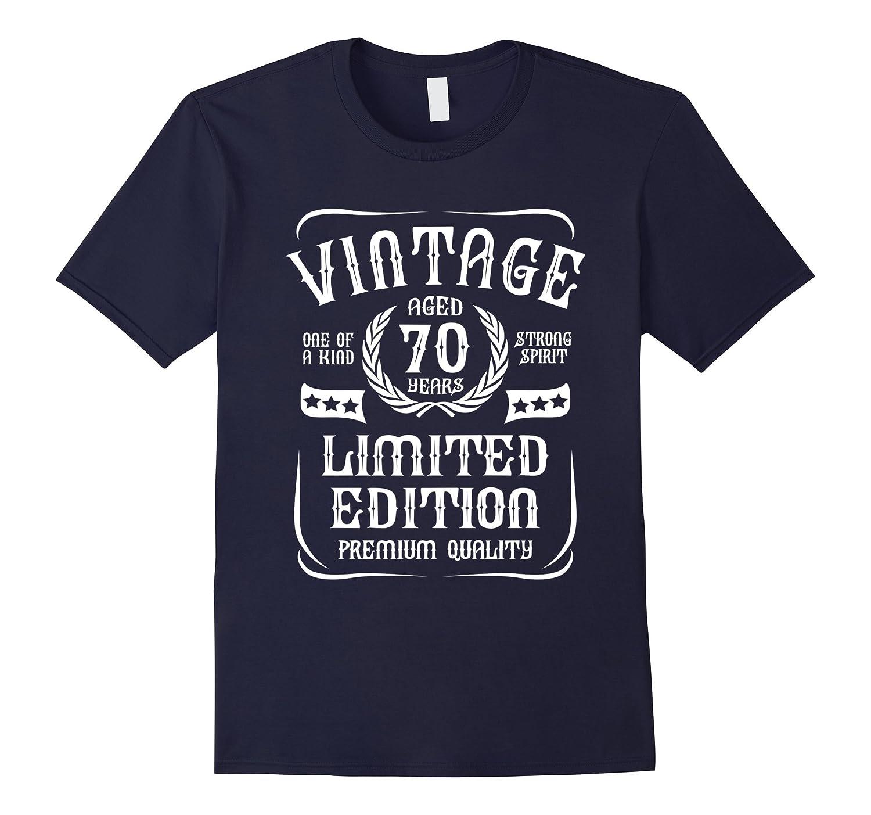 Vintage Aged 70th Birthday Gift T-Shirt-TD