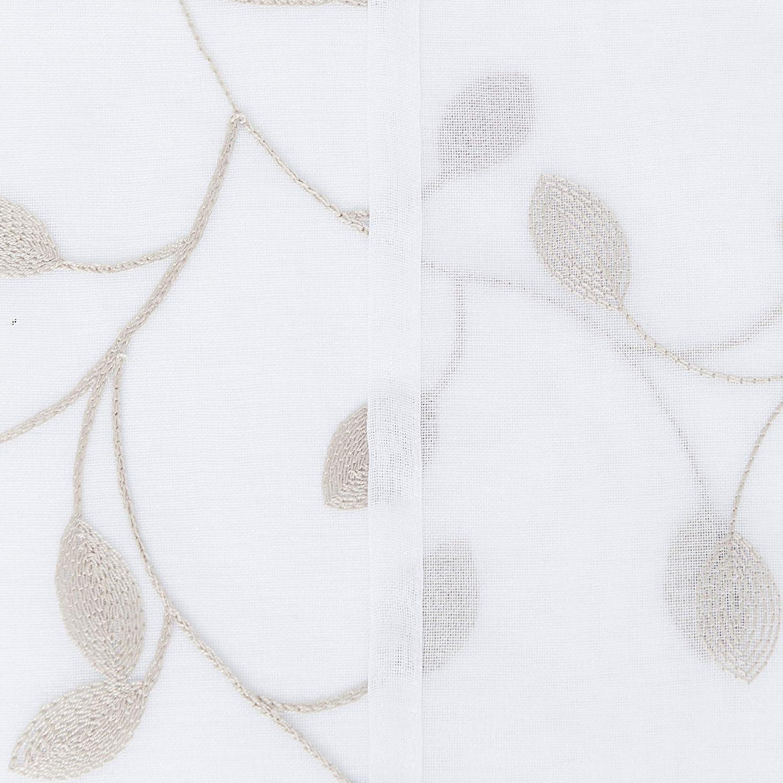 Deconovo Cortinas Visillos para Ventana Cortina Trasl/úcida Decorativo con Ollaos para Sal/ón Oficina 2 Piezas 140 x 138 cm Azul Marino