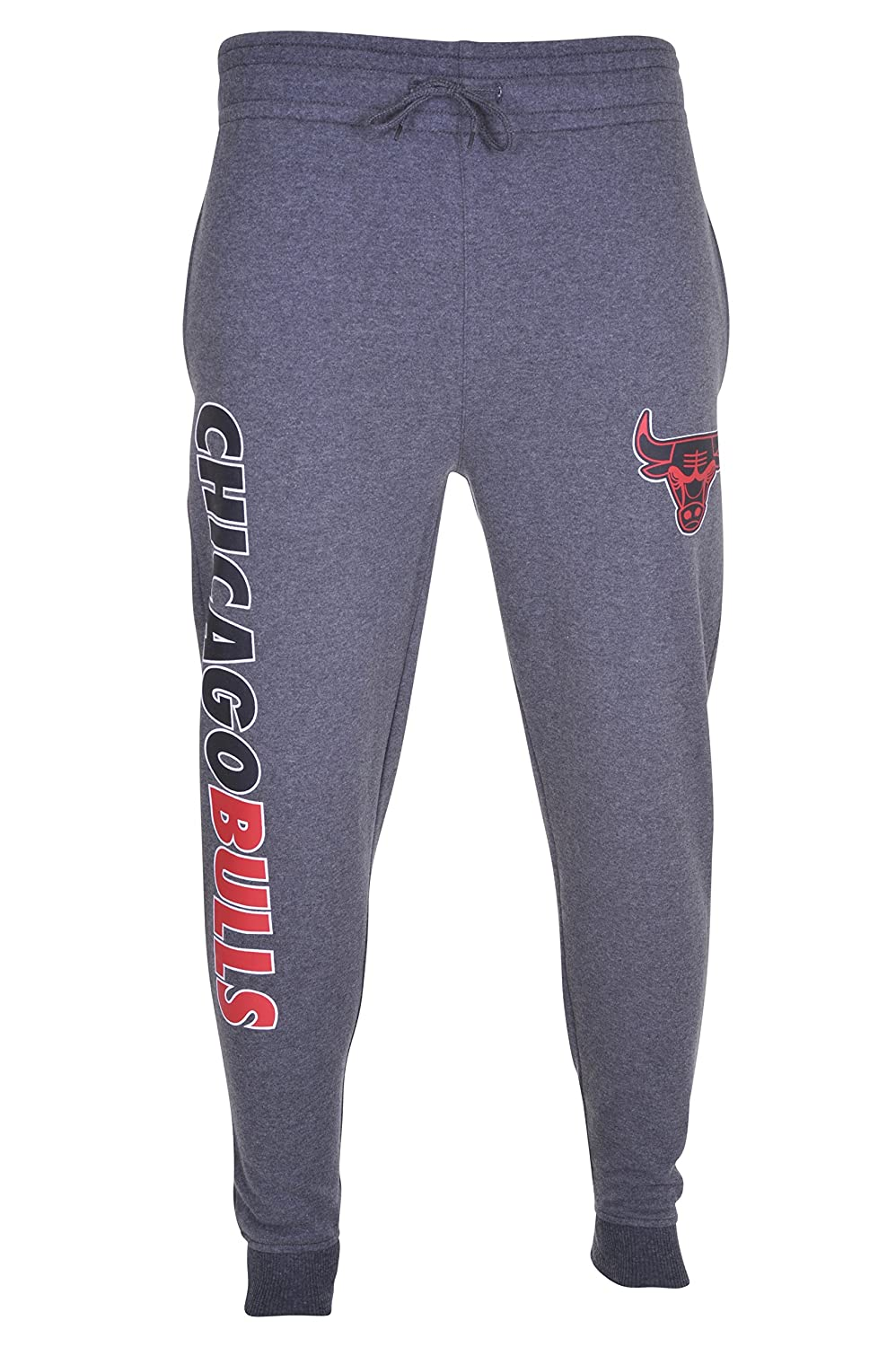 NBA Mens Jogger Pants Active Overtime Fleece Sweatpants Team Logo Gray