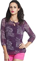 The Gud Look Women's Purple Print Top
