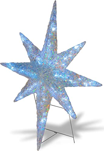 National Tree 42 Inch Ice Acrylic Star with 96 LED Lights with Multiple Functions DF-096001