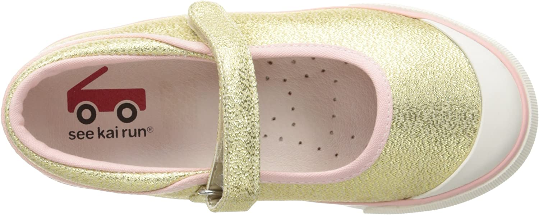 +See Kai Run Girls/' Marie Sneaker Gold Glitter Choose Size!
