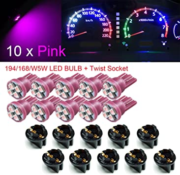 3 LED T5 286 WEDGE SMD CANBUS ERROR FREE RED BULBS DASHBOARD CLOCKS 12V 0.5W