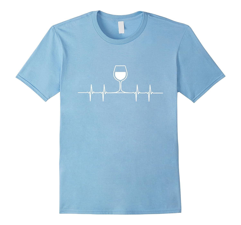 90a933b2941 Amazon.com  Wine Heartbeat Funny Wine Shirt Graphic Tee Women Men  Clothing