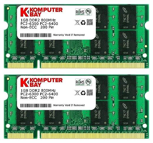 870 opinioni per Komputerbay 2GB 2X 1GB DDR2 800MHz PC2-6300 PC2-6400 DDR2 800 (200 PIN) SODIMM