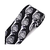 Parquet Men's Black French Horn Musical Instrument Music Necktie Tie Neckwear