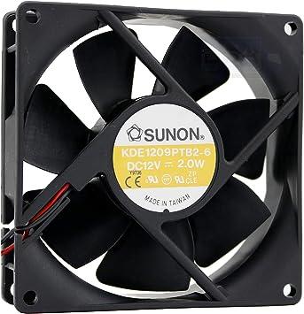 SUNON Ventilador 92 mm 92 x 92 x 25 KDE1209PTB2-6 Enfriamiento 12 ...