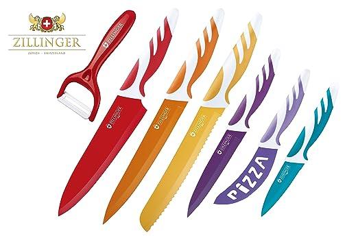 Zillinger Swiss - Juego de cuchillos de acero inoxidable y ...