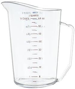 Cambro 200MCCW 2 qt Capacity, Camwear Clear Polycarbonate Liquid Measuring Cup