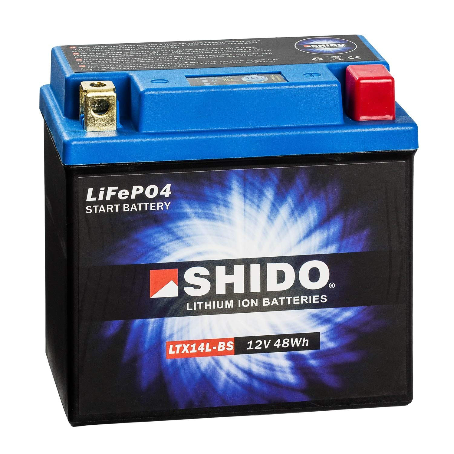 SHIDO LTX14L-BS LION -S- Lithium-Ion Battery-Blue