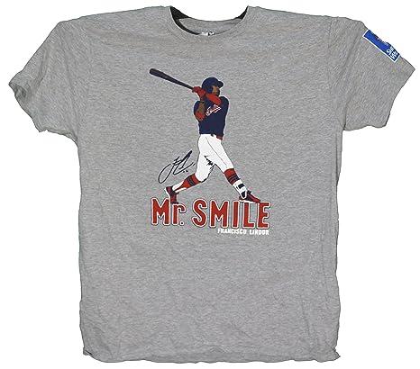 sports shoes 657e6 44d39 Amazon.com: Francisco Lindor Cleveland Indians Mr. Smile ...