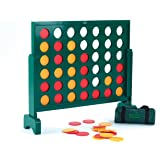 """Jumbo 4 Connect four counters in a row giant wooden game 30"""" tall"""