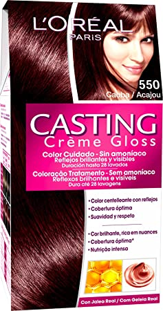 LOréal Paris Coloración Sin Amoniaco Casting Créme Gloss 550 Caoba - 600 gr