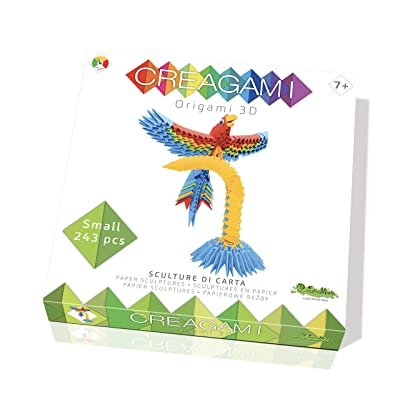 CreativaMente- Creagami Parrot, Multicoloured, 763: Toys & Games