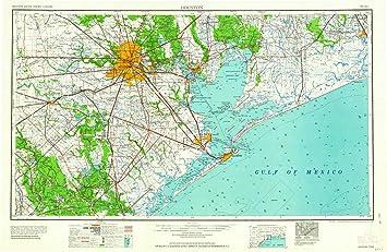 Amazon.com : YellowMaps Houston TX topo map, 1:250000 Scale ...