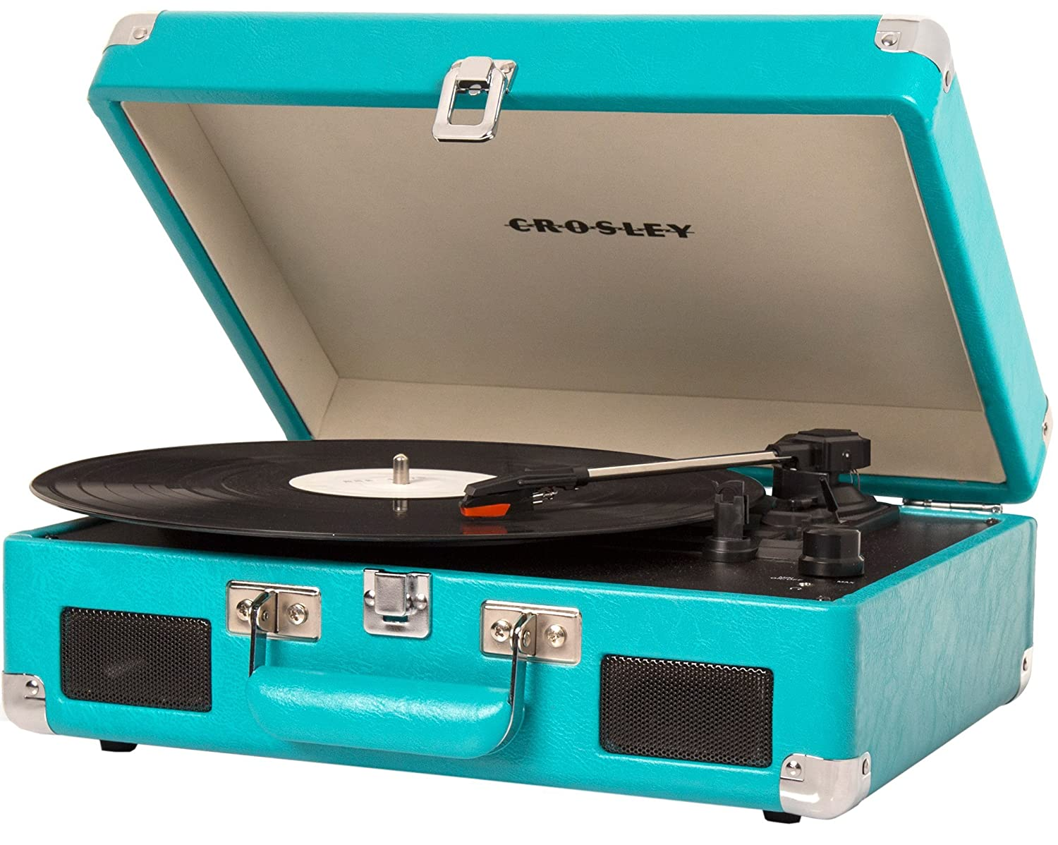Genial Amazon.com: Crosley CR8005C TU Cruiser II Portable Battery Powered 3 Speed  Turntable, Turquoise: Electronics