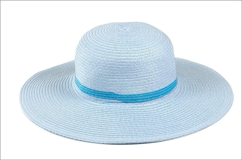 Summer Children Solid Church Kentucky Derby Hat Girls Floppy Kid Wide Brim Straw Hat Foldable Beach Hats