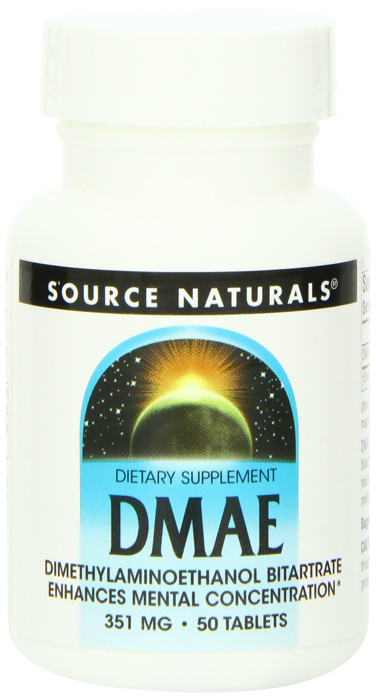 Source Naturals DMAE, 351mg, 50 Tablets