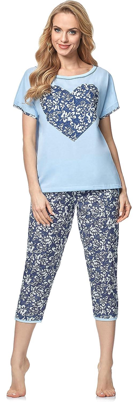 TALLA S. Italian Fashion IF Pijama Camiseta y Pantalones Mujer 91Y1 0225