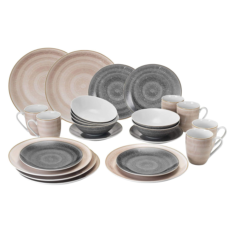 Kombi Palma Kombi-Set Teller Tassen HTI-Living Tafelservice 24-tlg